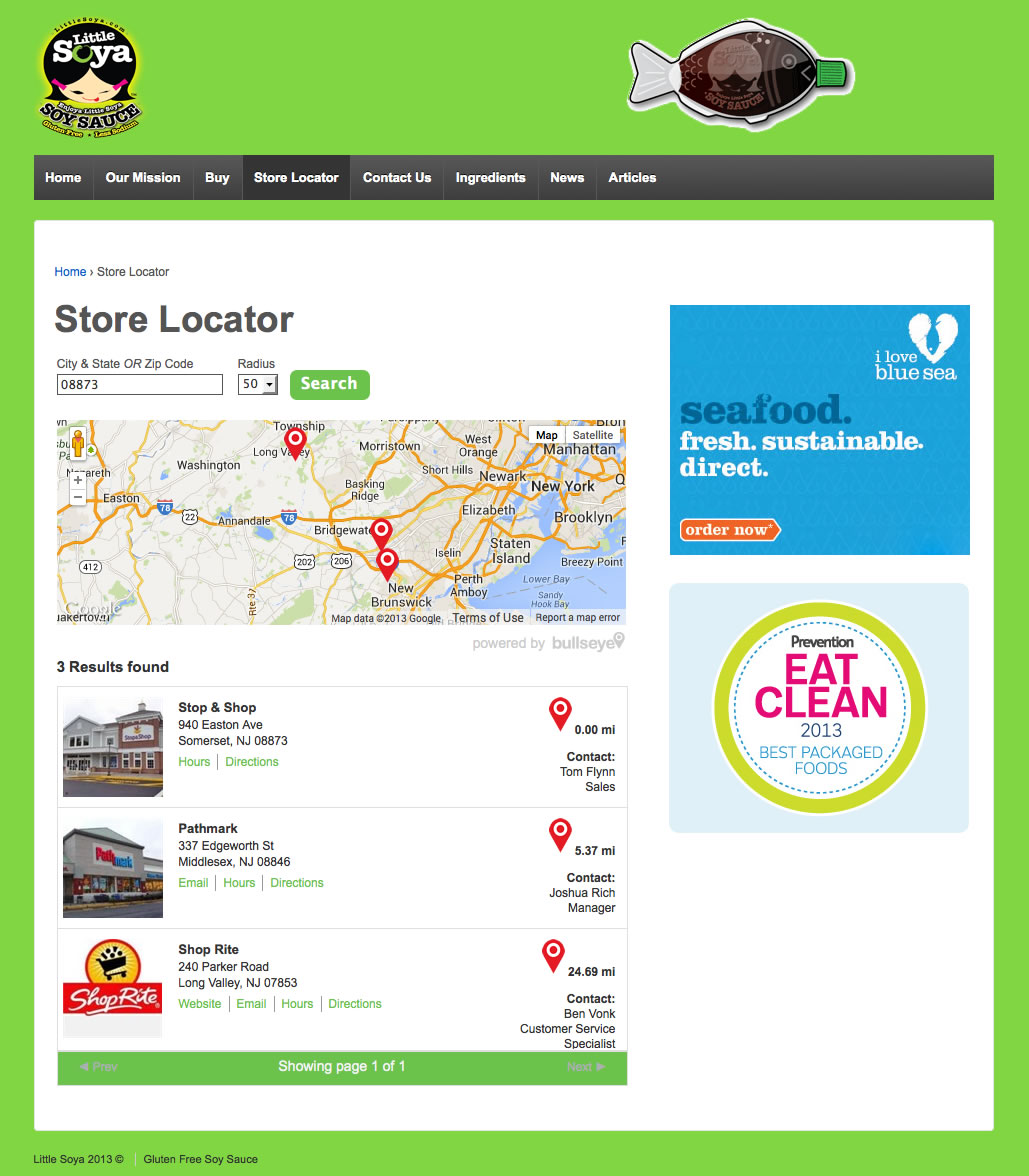 map on top store locator