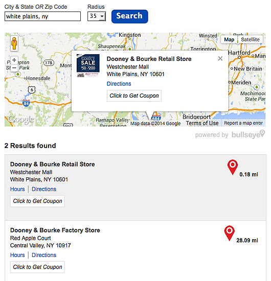 store locator software with coupon