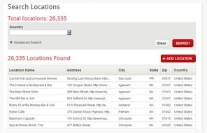 manage locations screen