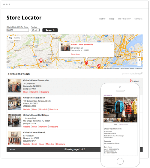 Top Map Store Locator Software