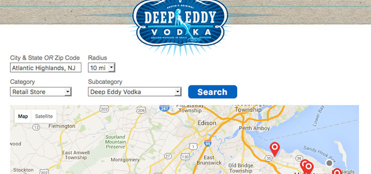 Deep Eddy Craft Beverage Store Locator