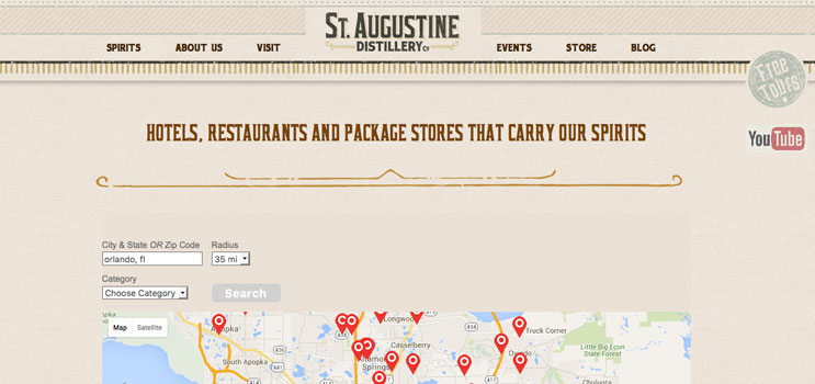 St. Augustine Craft Beverage Store Locator