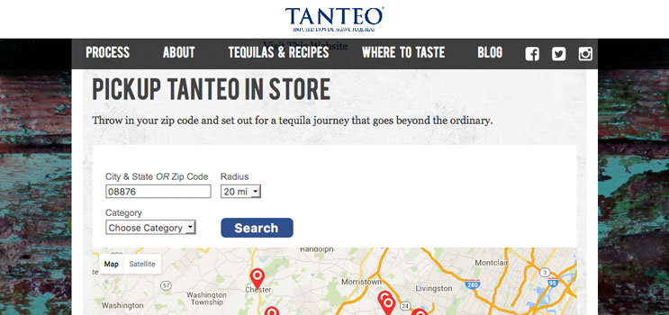 Tanteo Craft Beverage Store Locator