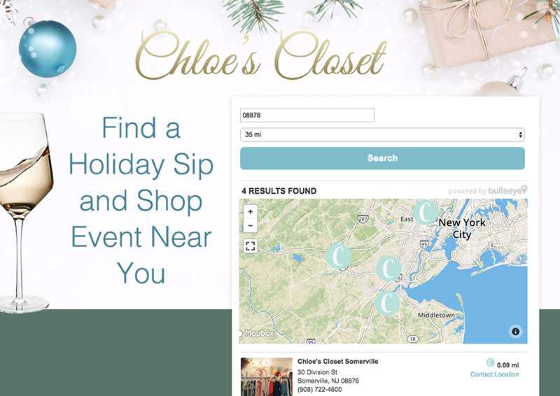 holiday locator landing page