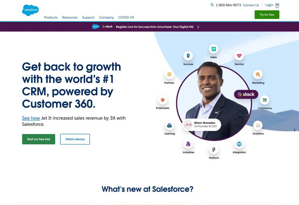 salesforce for building materials